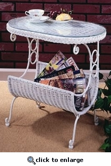 Oval Magazine Table (UPS $45)