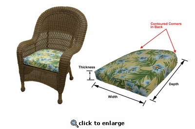 Avon Dining Chair Cushions with Fran's Indoor/Outdoor Fabrics (UPS $20)