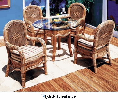 Cancun Dining Chair Cushions (UPS $25) with Fran's Indoor/Outdoor Fabrics