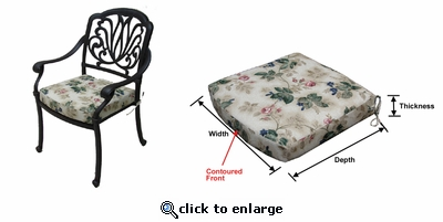 Springfield Dining Chair Cushion with Sunbrella & Richloom Premiere Fabrics (UPS $20)