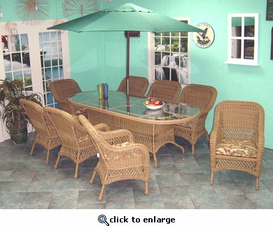 Aquarius Dining Set/9 (MF) (40% Off!)