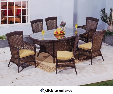 Georgian Oval Dining Set/7 (MF) (40% Off!)