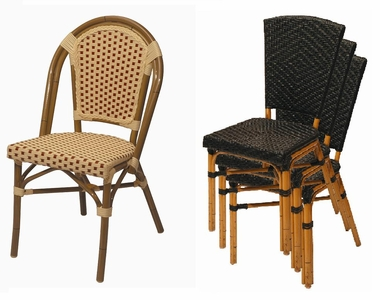 stackable cafe all weather chairs