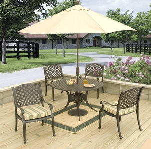 "Lancaster 48"" Round Dining Set/5 (MF)"" title=""Lancaster 48"" Round Dining Set/5 (MF)"