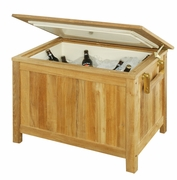 Outdoor Teak Ice Chest (UPS $90)