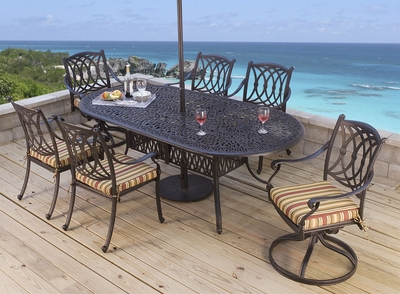 "<b>Santorini Oval 84"" X 42"" Dining Collection</b>"" title=""<b>Santorini Oval 84"" X 42"" Dining Collection</b>"