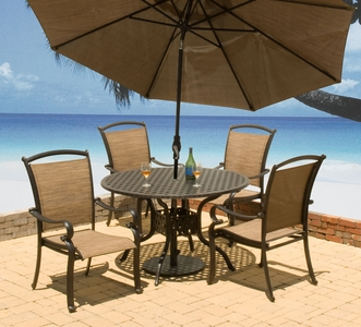 "Providence 48"" Round Dining Set of Five Price"" title=""Providence 48"" Round Dining Set of Five Price"