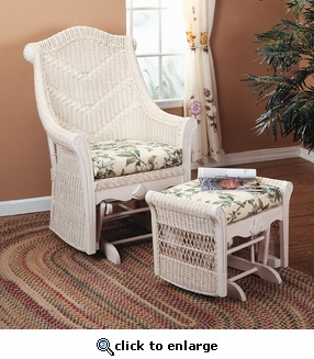 Cheval Wicker Ottoman  (UPS $35)