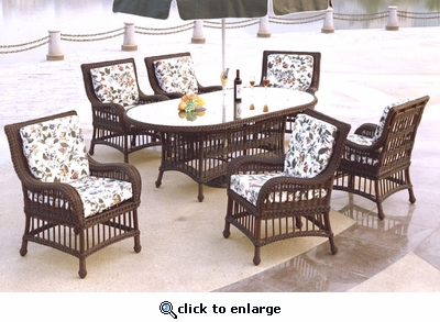 Key Largo Oval Dining Set/7 (MF)