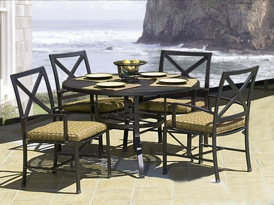"Ibiza 48"" Dining Set of Five"" title=""Ibiza 48"" Dining Set of Five"