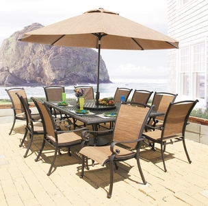 "Providence 84"" x 60"" Rectangular Dining Set/11 (MF)"" title=""Providence 84"" x 60"" Rectangular Dining Set/11 (MF)"