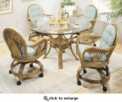 Fan Swivel Dining Set of Five (MF)