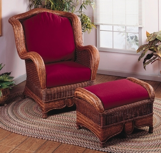 Moroccan Wing Chair & Ottoman