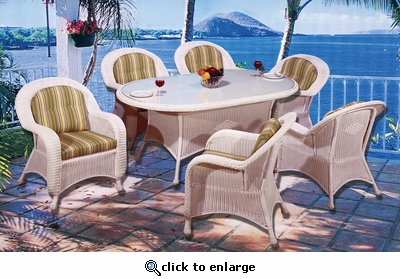 Coral Bay Oval Dining Set/7 (MF)