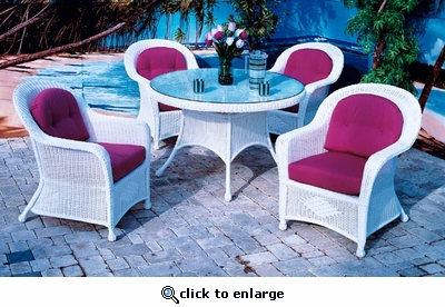 Plymouth Wicker Dining Set/5 (MF)