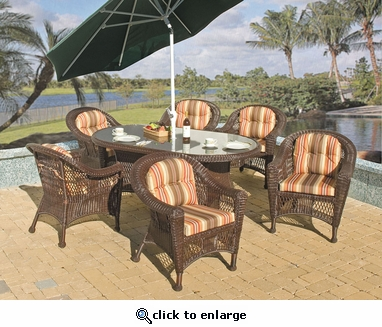 Berkeley Oval Dining Set /7 (MF)
