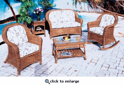 Plymouth Loveseat Cushions with Fran's Indoor/Outdoor Fabrics (UPS $50)