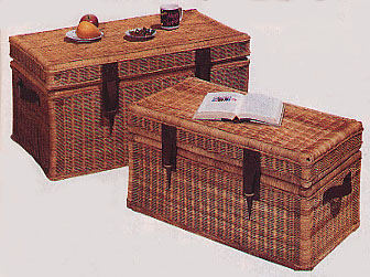 Medium Wicker Steamer Trunk (UPS $45)