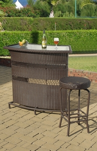 Outdoor Carribbean Bar Set