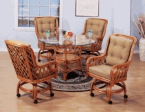 Lotus Swivel Dining Chair Cushions with Fran's Indoor/Outdoor Fabrics (UPS $25)