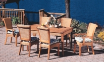 Four Seasons Dining Chair Cushion with Fran's Indoor/Outdoor Fabrics (UPS $20)