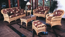 Seawinds Loveseat Cushions with Fran's Indoor/Outdoor Fabrics (UPS $50)