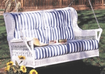 Montclair Double Swing Cushions with Fran's Indoor/Outdoor Fabrics (UPS $50)