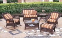 Spring Lake Loveseat Cushions with Fran's Indoor/Outdoor Fabrics (UPS $50)