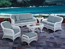 Aquarius Loveseat Cushions with Fran's Indoor/Outdoor Fabrics (UPS $50)