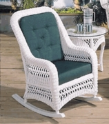 Aquarius Rocker Cushion with Fran's Indoor/Outdoor Fabrics (UPS $25)