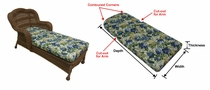 Camelback Chaise Cushion with Fran's Indoor/Outdoor Fabrics (UPS $30)
