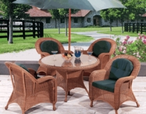 Coral Bay Dining Chair Cushions with Fran's Indoor/Outdoor Fabrics (UPS $25)