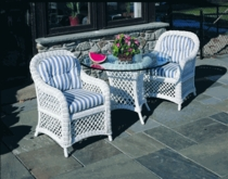 Lanai Dining Chair Cushions with Fran's Indoor/Outdoor Fabrics (UPS $25)