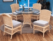 Lanai Dining Chair Cushion with Fran's Indoor/Outdoor Fabrics (UPS $20)