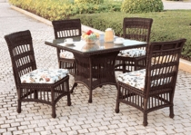 Key Largo Dining Chair Cushions Set/2 with Fran's Indoor/Outdoor Fabrics (UPS $35)