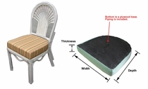 Dining Chair Wood Seat Cushion with Fran's Indoor/Outdoor Fabrics (UPS $20)