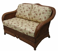 Moroccan Loveseat Cushions with Fran's Indoor/Outdoor Fabrics (UPS $50)