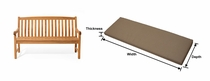 Teakwood 5' Bench Cushion with Fran's Indoor/Outdoor Fabrics (UPS $35)