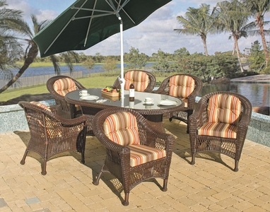 Berkeley Oval Dining Set/7 (MF)