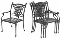 Castle Dining Arm Chair (UPS $65)