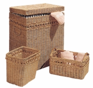 Wicker Bath Ensemble  (UPS $45)