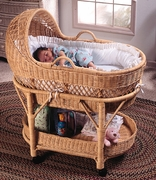 Deluxe Wicker Bassinet (UPS $110)
