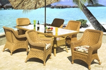 Tahiti Rectangular Dining Set of 7 (MF)