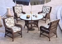 Key Largo Round Dining Set/7 (MF)