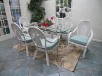 Fan Oval Dining Set of 7 (MF)