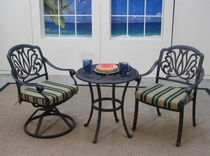Springfield Bistro Set of 3 with Swivel Chairs (MF)