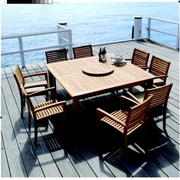 Duke Square Dining Set of Nine (MF)