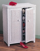 Wicker Shoe Cabinet (UPS $55)
