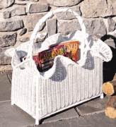 Scalloped Magazine Basket (UPS $40)