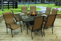 Harbor Firepit Dining Set/9 (MF)
